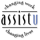 AssistU - changing work, changing lives logo